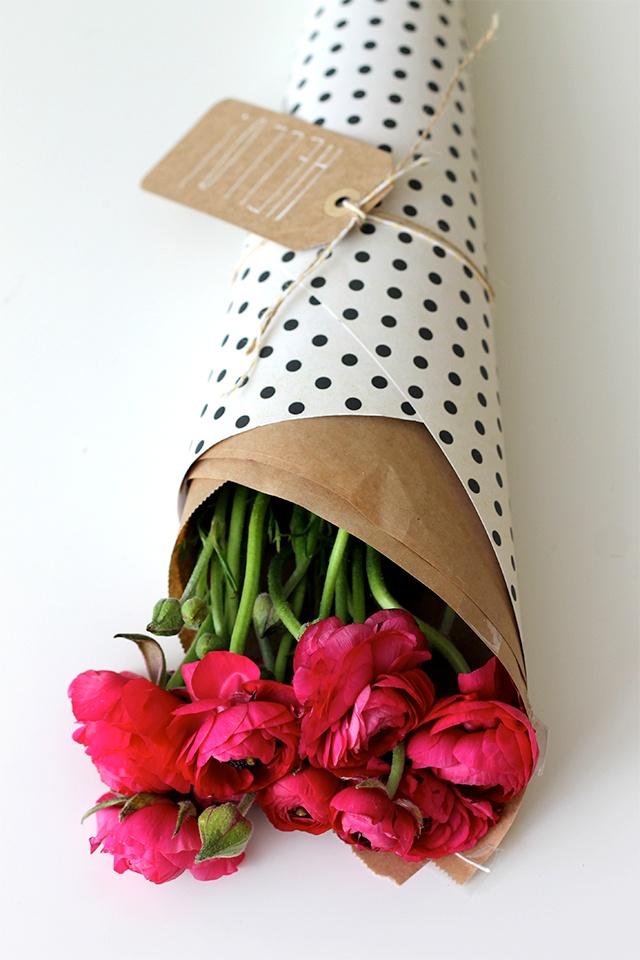 Оригинальная упаковка цветов
